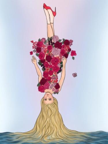 Sleeping Beauty meets Rapunzel at a Fashion Show