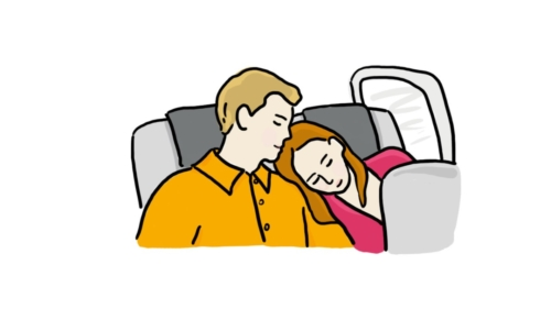 Couple in Plane