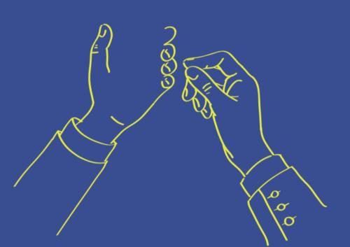 Hands Holding Samsung Phone